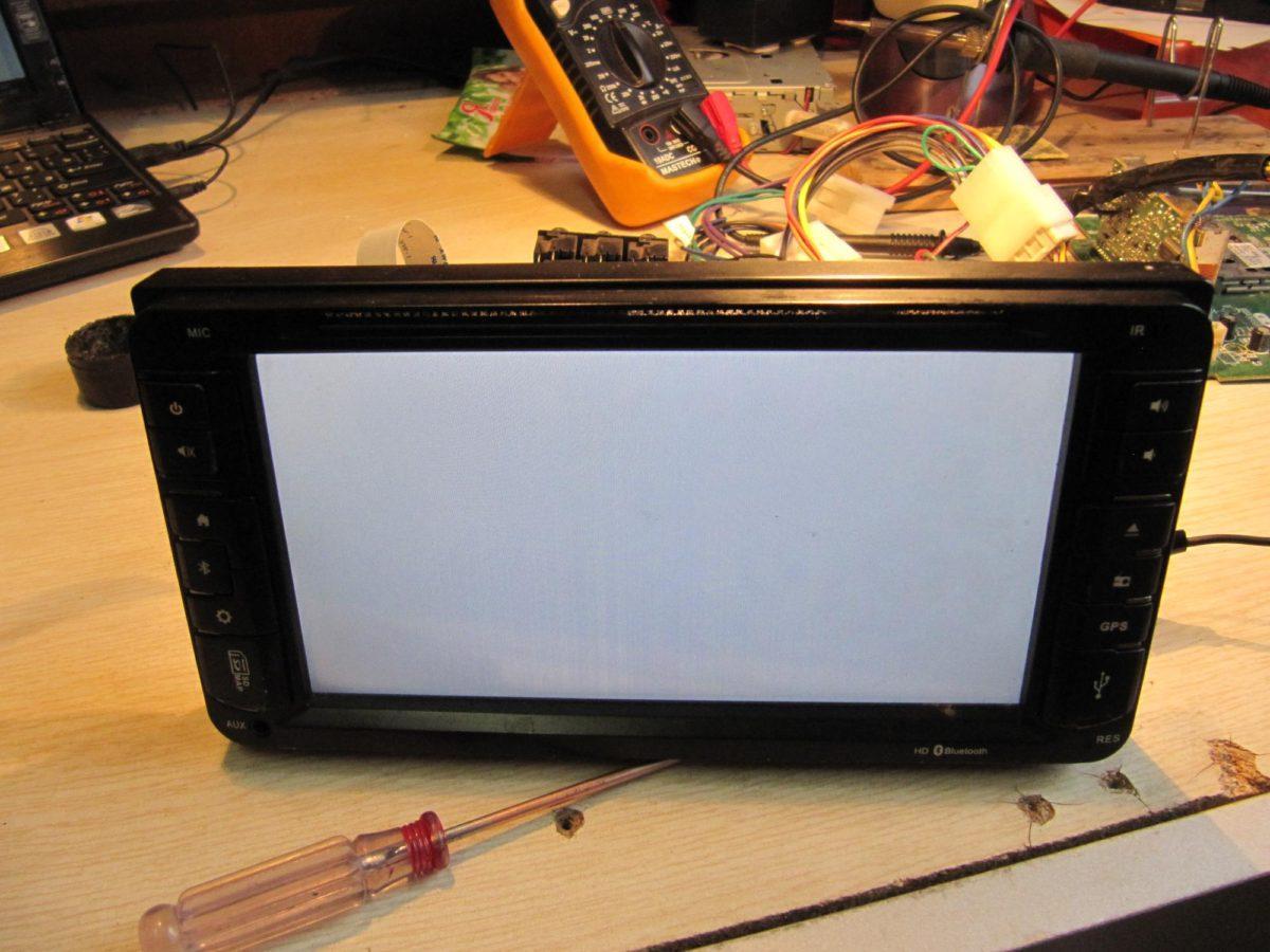 Белый экран у вашей автомагнитолы, штатной магнитолы, штатного головного устройства (ШГУ)