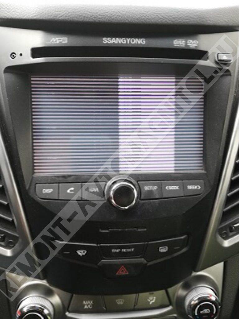 Ремонт/прошивка штатной автомагнитолы ssangyong NAV0034001,NAV0034011
